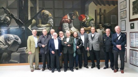 Delegation of Club de Gráficos Eméritos visited the Museo Didáctico de Artes Gráficas